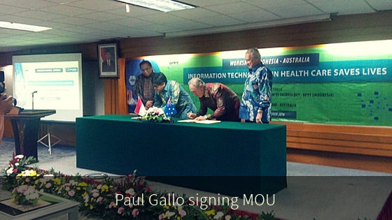 Paul Gallo signing MOU