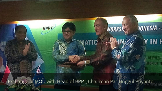 Exchange of MOU with BPPT